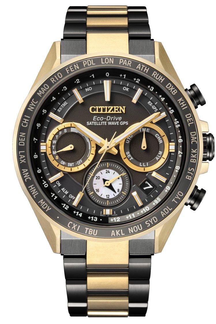 CITIZEN CC4016-75E表款,鈦金屬表殼、表鍊,部分鍍古銅金,HAK...