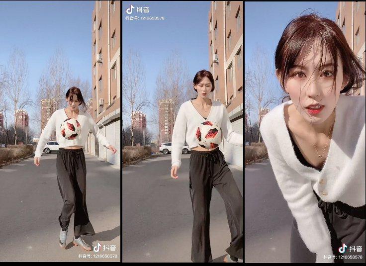 網傳李連杰前妻女兒是足球員,最後發現其實是抖音近期爆紅的足球網美。圖/擷自抖音
