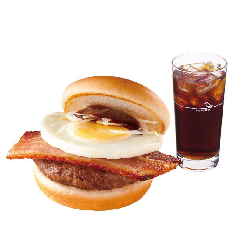 MOS Order APP專屬,厚切培根牛肉堡+可樂享優惠。圖/摩斯漢堡提供