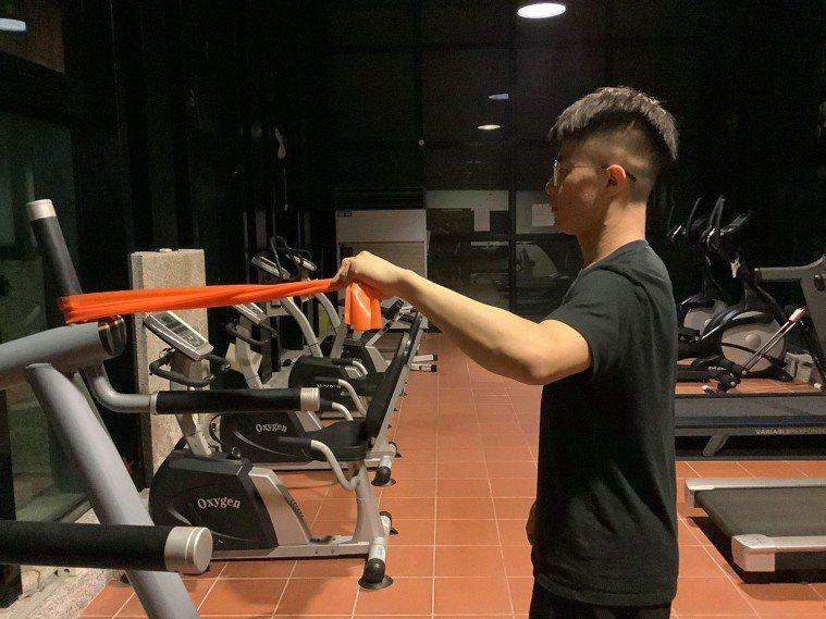 下斜方肌訓練的正確姿勢。
