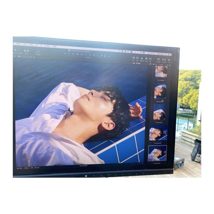 車銀優在自己的IG帳號放了拍攝的花絮照片。圖/取自IG