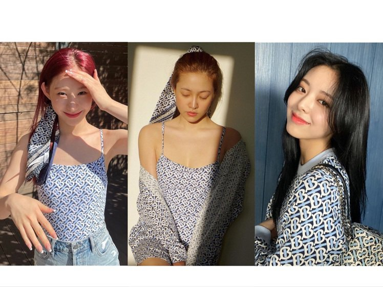 ITZY成員和Red Velvet的Yeri詮釋BURBERRY的夏日系列,青春...