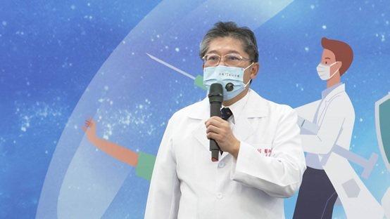 軍醫局局長陳建同中將醫師的致詞。 台灣長照醫學會/提供