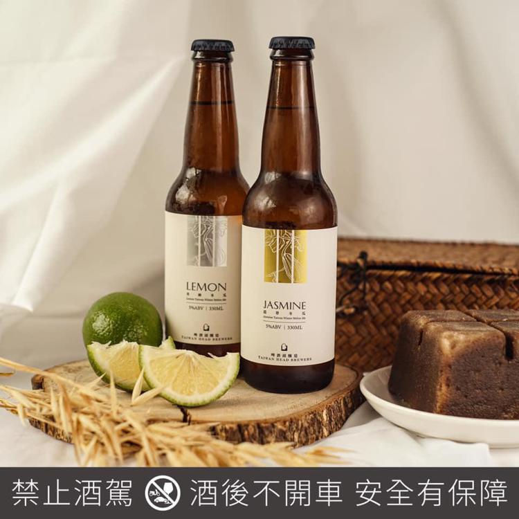 兩款冬瓜茶口味的茶啤酒:翡翠冬瓜茶與青檸冬瓜茶,是啤酒頭的最新口味,本周甫於全台...