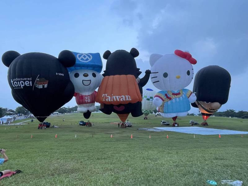 台東熱氣球嘉年華今在鹿野高台辦開幕式,活動將持續到9月12日。記者陳言喬/攝影