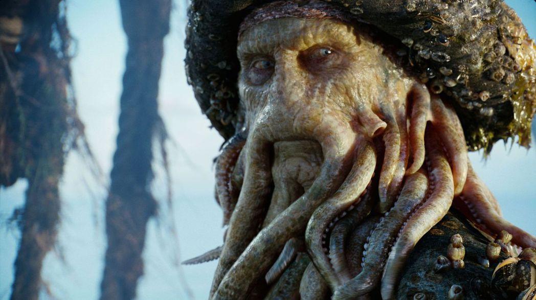 比爾奈伊在「神鬼奇航」系列的「深海閻王」造型讓人印象深刻。圖/摘自imdb