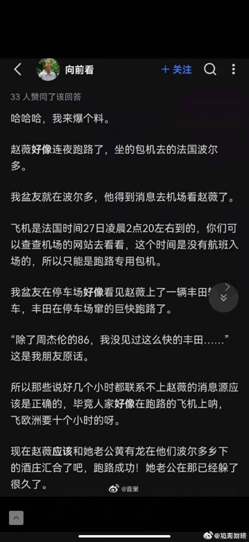大陸網友在網路上散佈在法國機場看到趙薇的情形。圖/摘自微博