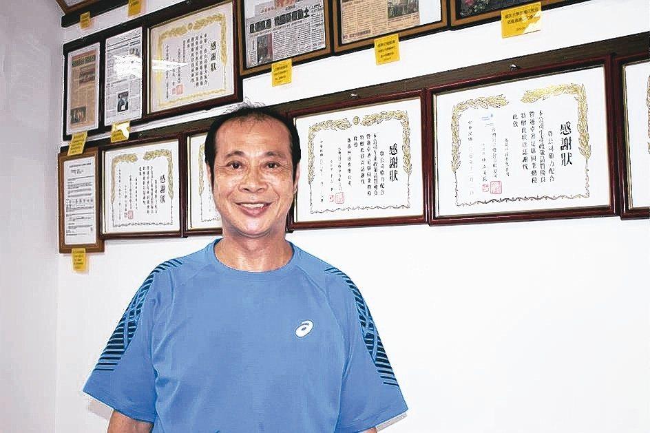 晟通公司董事長蘇文通。 吳佳汾/攝影