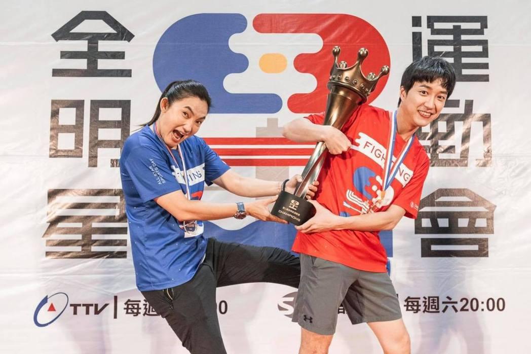 江宏傑和錢薇娟成為另類歡喜冤家。圖/摘自臉書