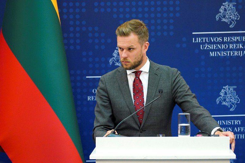 立陶宛外交部長藍斯柏吉斯(Gabrielius Landsbergis)。 圖/路透社