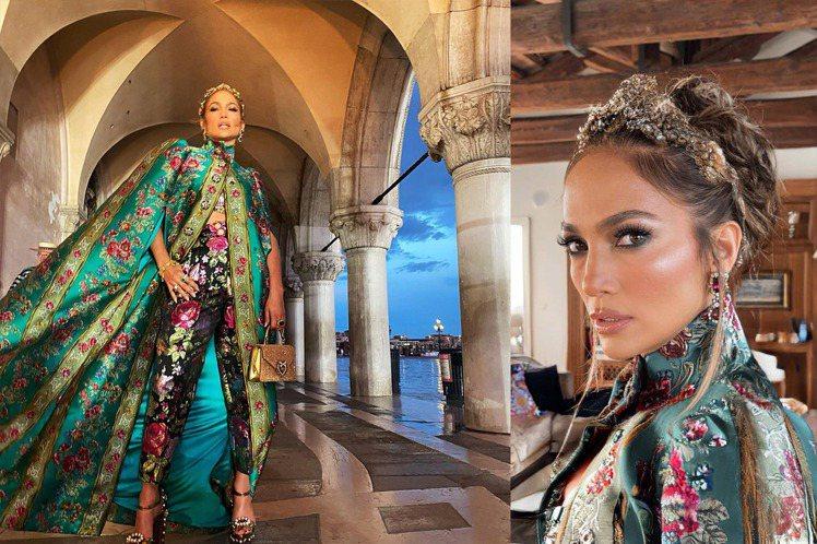 珍妮佛洛佩茲出席時尚活動,霸氣又美豔的造型,無論走到哪裡都讓人忽視。圖/摘自fa...