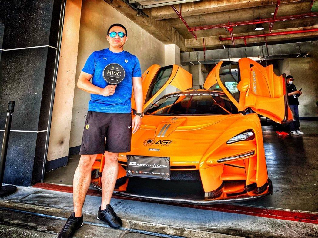 台灣黑沃咖啡與頂級超跑賽事學校G Motor合作超跑賽事。夏河國際/提供
