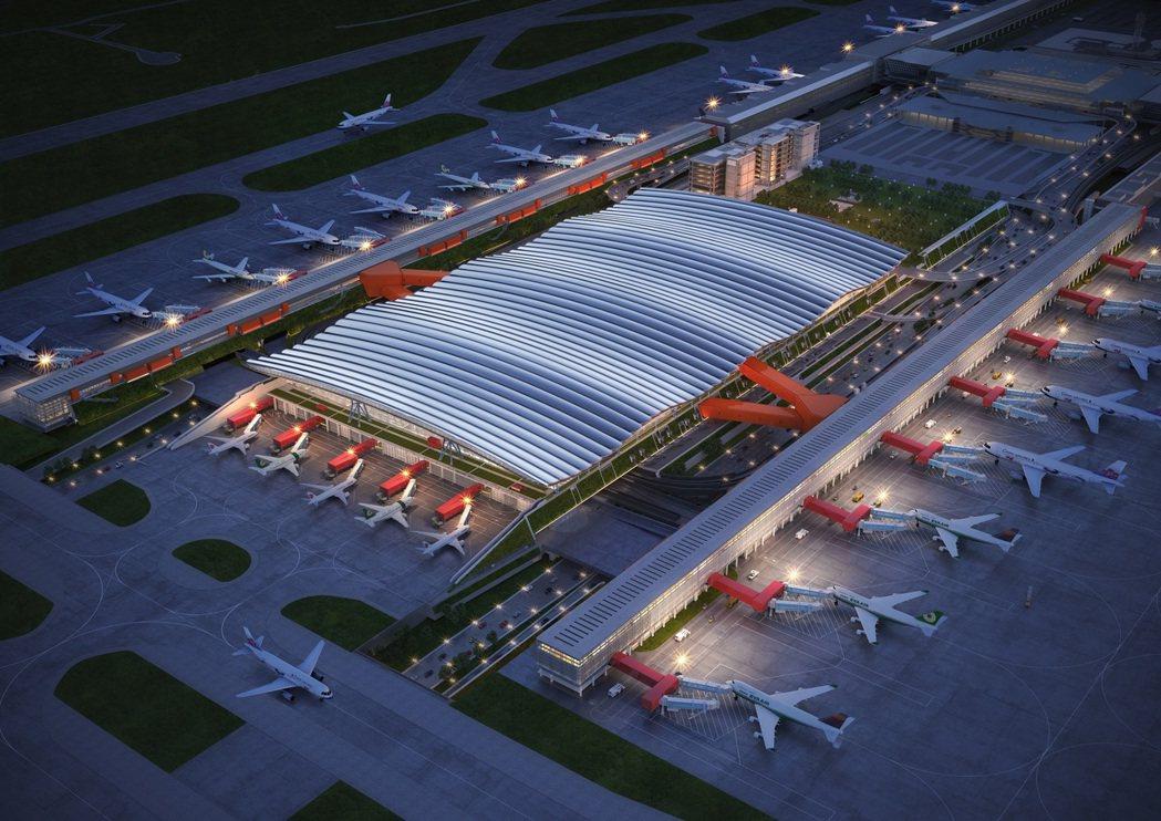 桃機三航站區主體航廈機電工程由東元電機團隊得標。圖片提供:桃園國際機場