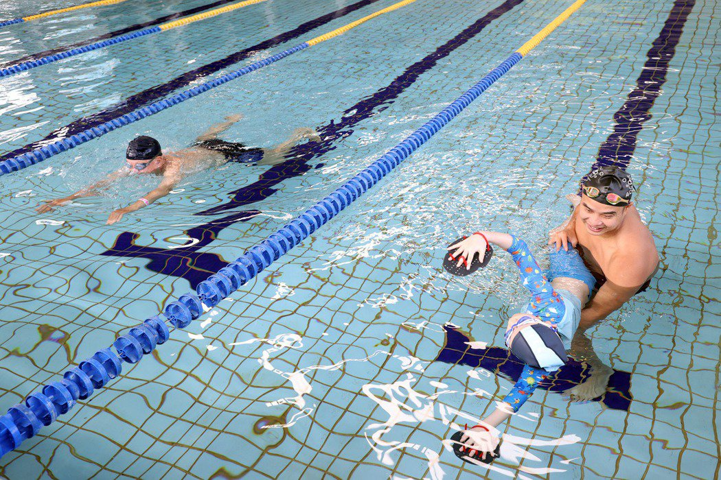 圖為游泳教學示意圖。 圖/聯合報系資料照