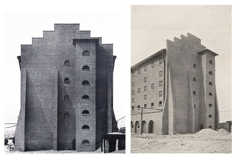 Hans Poelzig是磚塊表現主義的代表作家,此建築為其代表作——波蘭魯班硫酸工廠。 圖/Architekturmuseum–Technische Universität Berlin, & Photopolska.eu