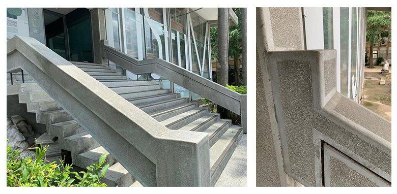 外部懸空階梯整體的轉折變化及細節工法都有高水準的表現。 圖/呂琪昌