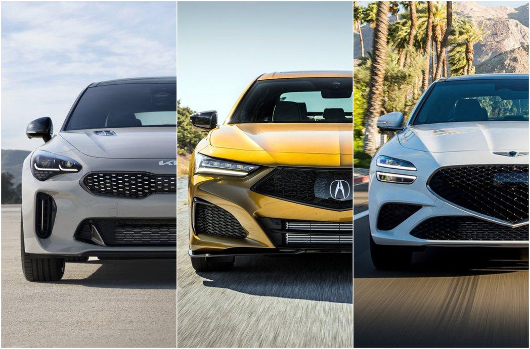 摘自Acura、Genesis、Kia