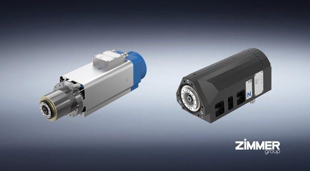 氣冷式(左)與水冷式電主軸。 Zimmer Group/提供