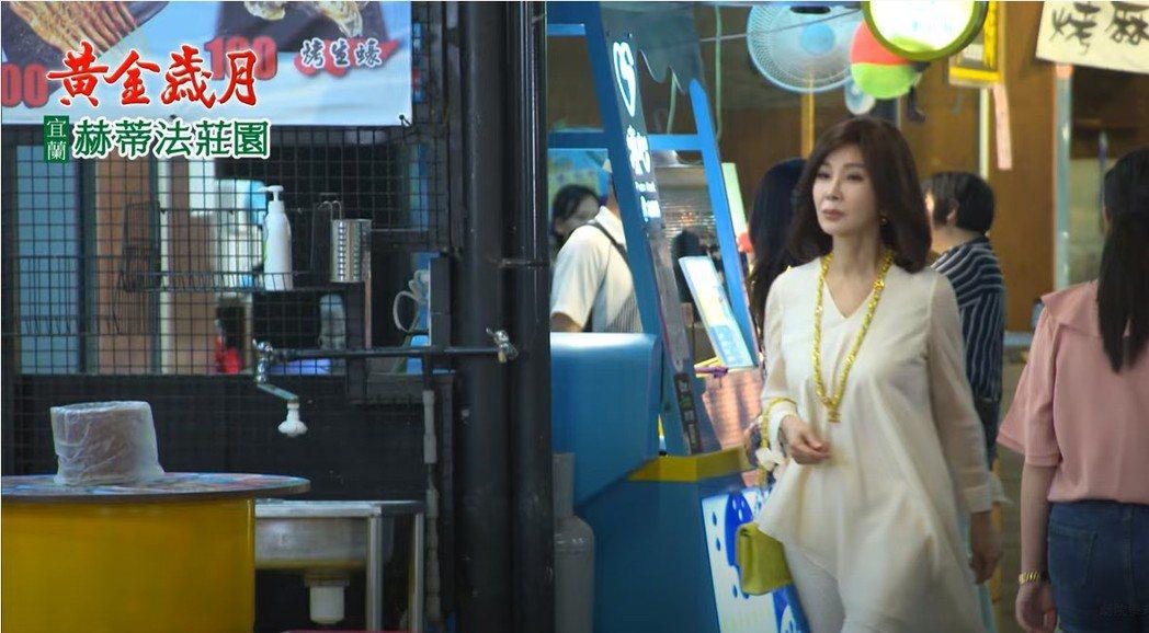 陳美鳳拍攝「黃金歲月」一場夜市戲,驚呆許多粉絲。圖/民視提供
