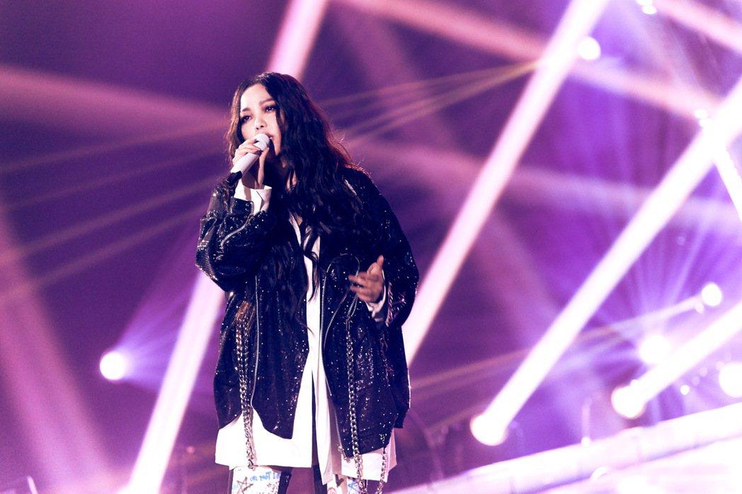 張惠妹獻唱「掉了」、「我最親愛的」、「跳進來」等11首歌曲。圖/聲動娛樂提供