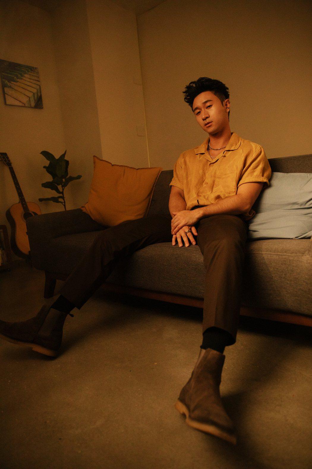 新人Sam Lin放棄高薪一圓歌手夢。圖/華納音樂提供