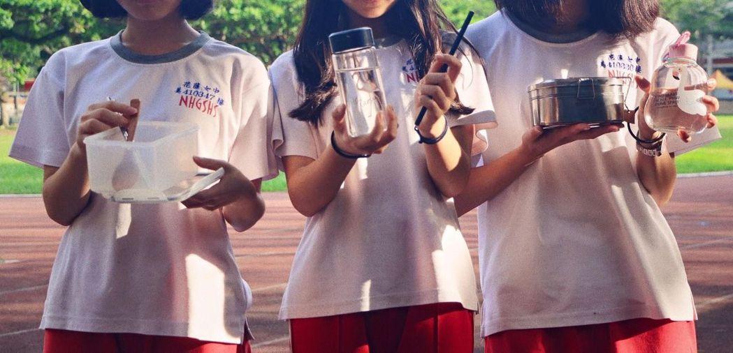 黃筱涵與花蓮女中一群夥伴創辦「Green Campus」在學校落實綠色行動,當初...