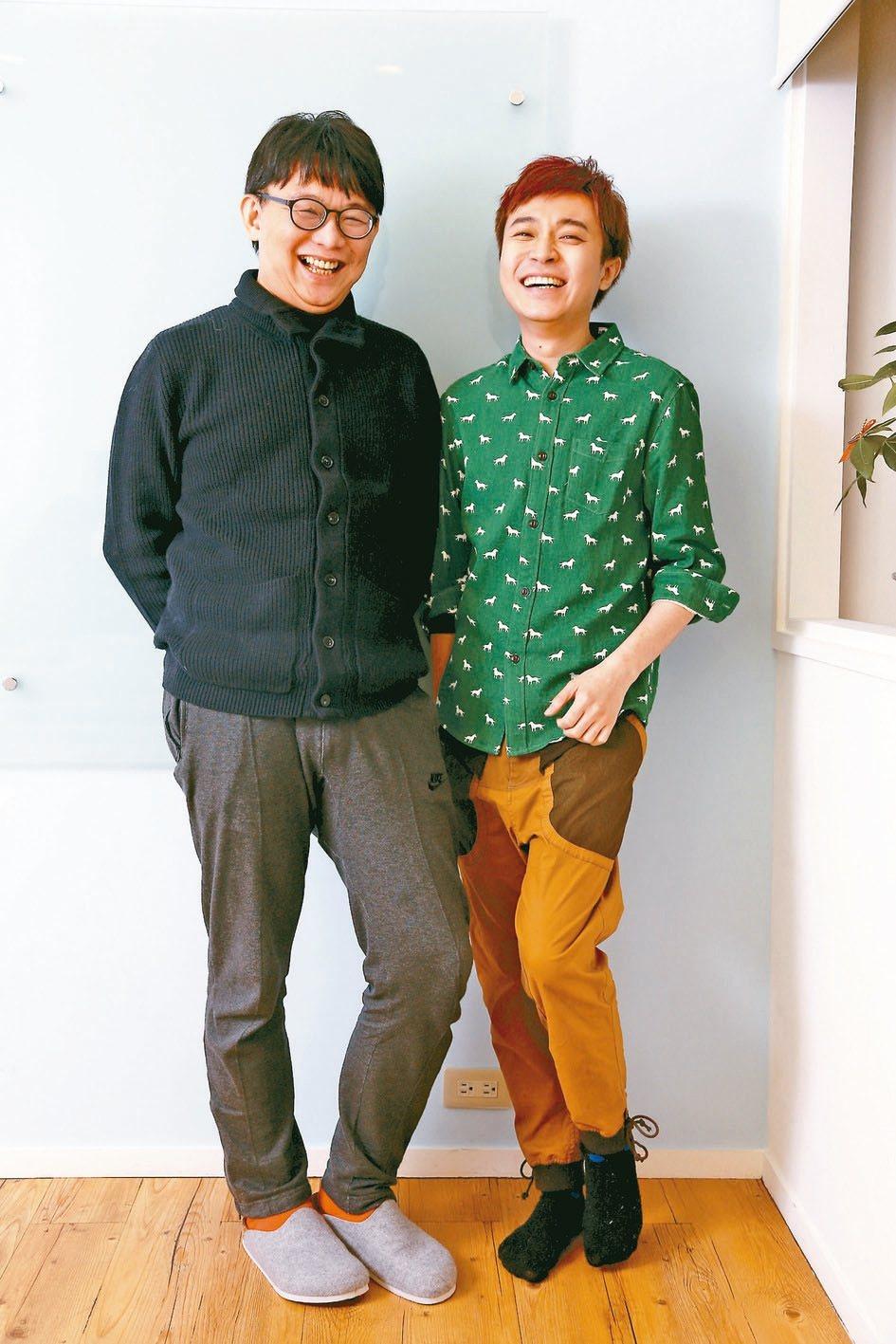 吳青峰(右)因歌曲著作權與恩師林暐哲對簿公堂。本報資料照片