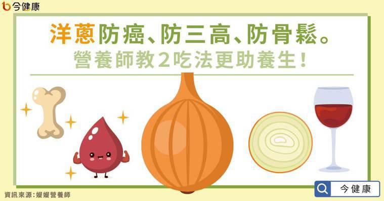 洋蔥防癌、防三高、防骨鬆。營養師教2吃法更助養生! 圖/今健康提供
