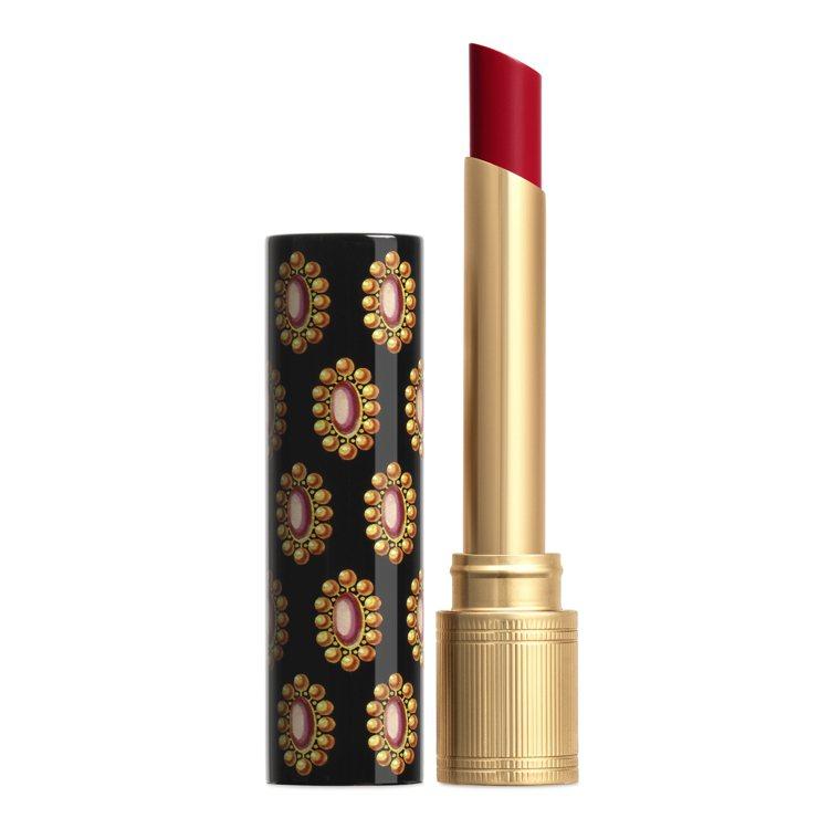 傾色琉光唇膏#508黛安娜琥珀,1,300元。圖/GUCCI提供
