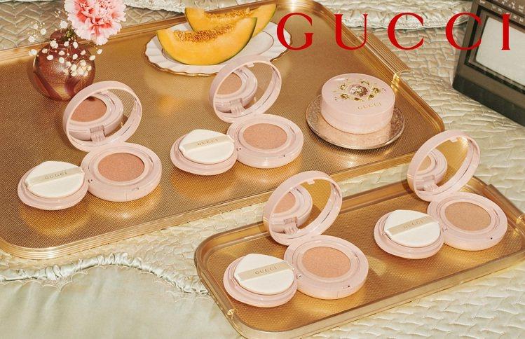 GUCCI推出Cushion De Beauté無暇水光氣墊粉餅。圖/GUCCI...