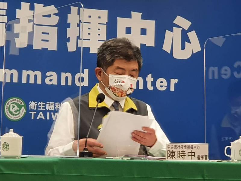 首批BNT疫苗即將到貨,陳時中表示會到機場親自接機。記者楊雅棠/攝影