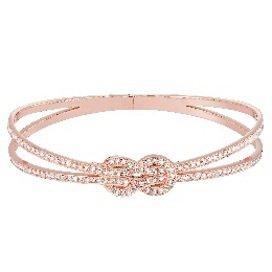 FRED Chance Infinie系列18K玫瑰金滿鑽手環,50萬2,700...