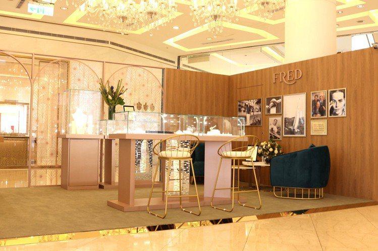 法國現代珠寶品牌FRED於微風復興開設為期半年的pop-up期間限定店。記者王聰...