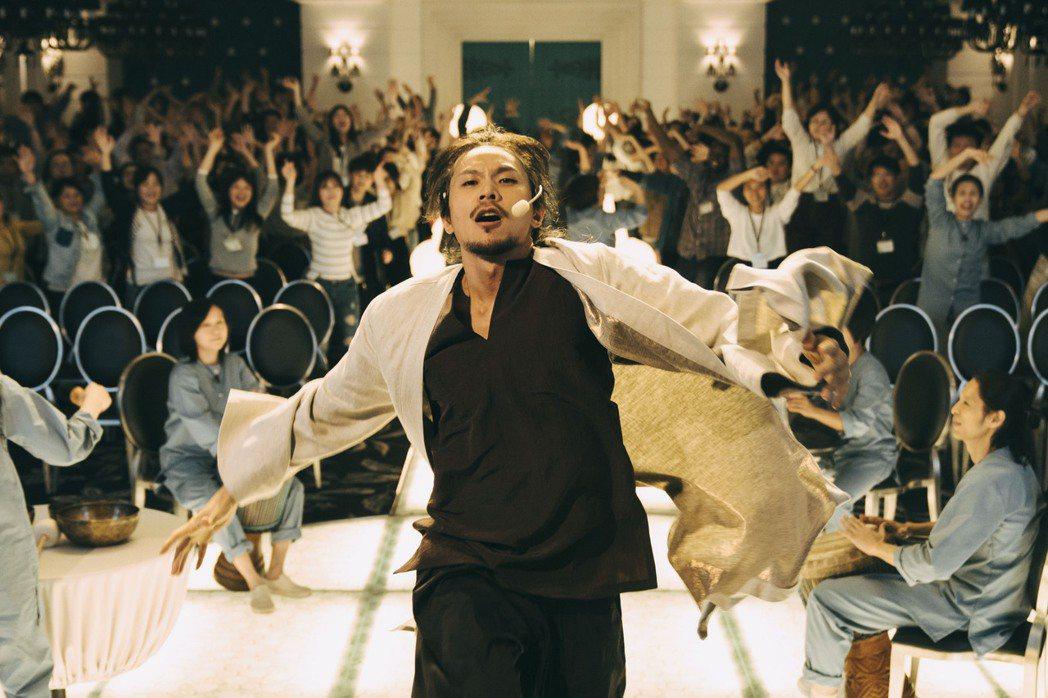 姚淳耀飾演邪教教主,海外預告播放時獲得很大回響。圖/絡思本娛樂製作公司提供