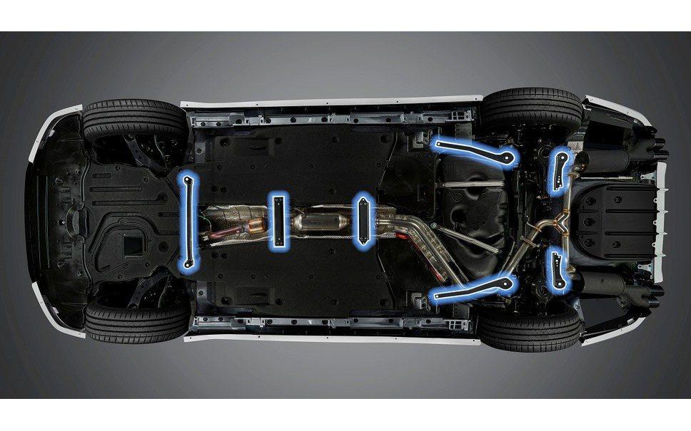 新增底盤強化拉桿,有助於提升車身剛性及車身動態穩定性等。 圖/TRD提供