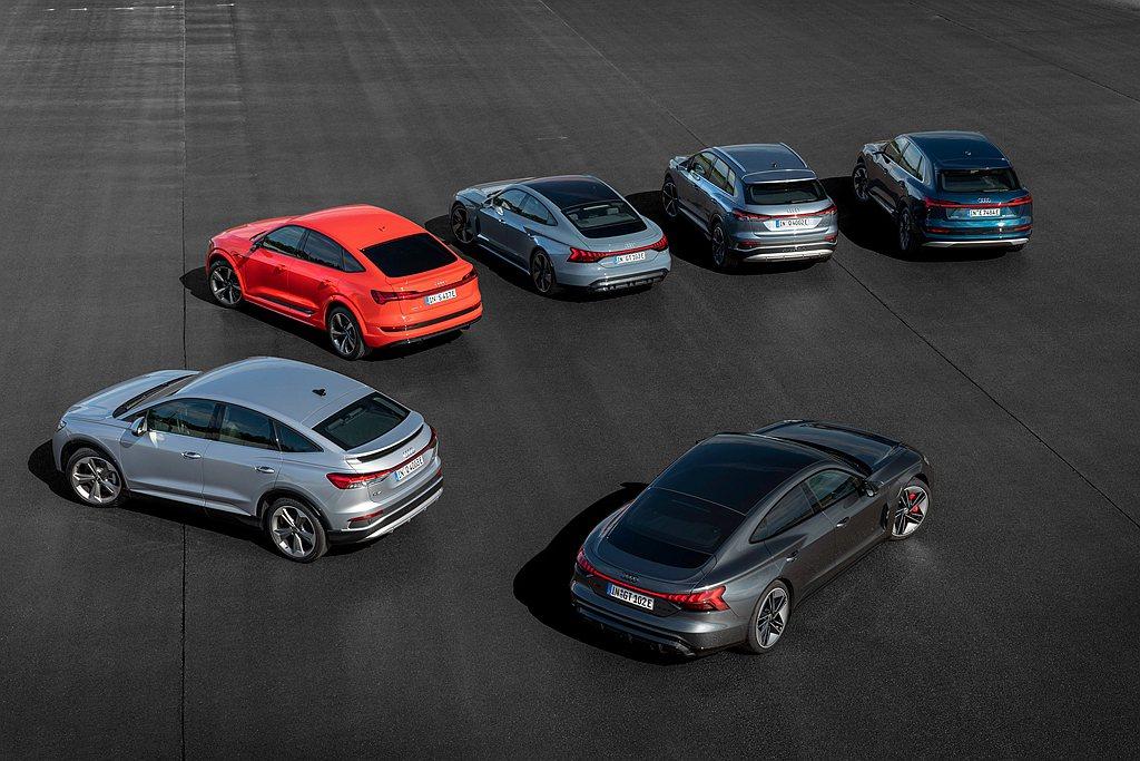 Audi已發表多款如Audi e-tron GT、RS e-tron GT、Q4...