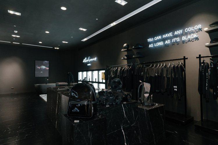 標榜來自巴黎的時尚品牌BLVCK在台開出全球最大旗艦店。圖/BLVCK提供