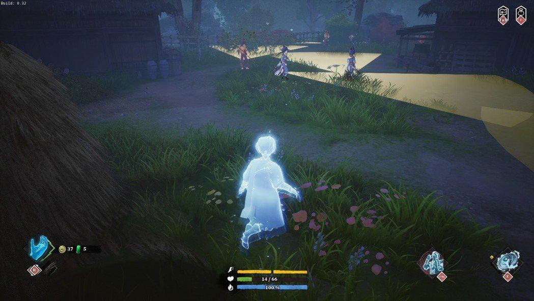 幽靈型態移動較快,能潛行觀察戰場,並從後方現形背刺偷襲