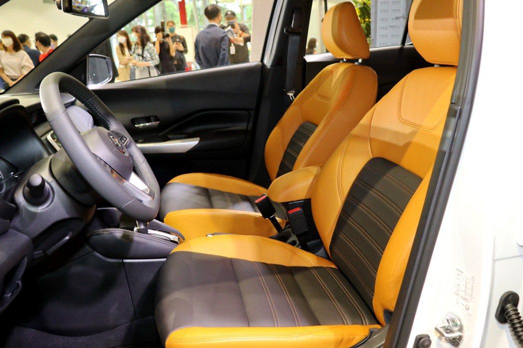 Nissan Kicks哈騷版更搭配日產為臺灣專屬設計的2-Tone雙色橘黑內裝...
