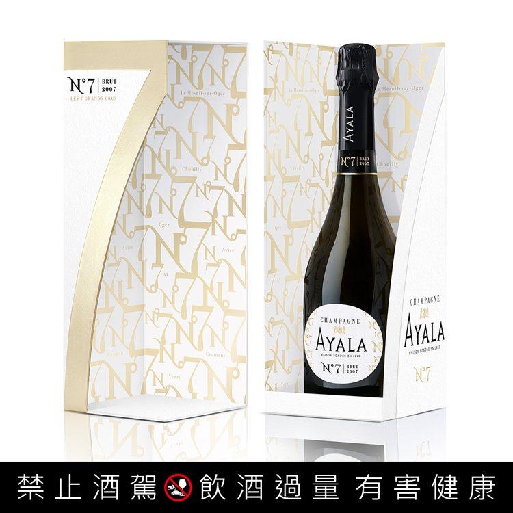 艾雅拉NO.7特級年份香檳禮盒,優惠價3,390元。。圖/星坊酒業提供。提醒您:...