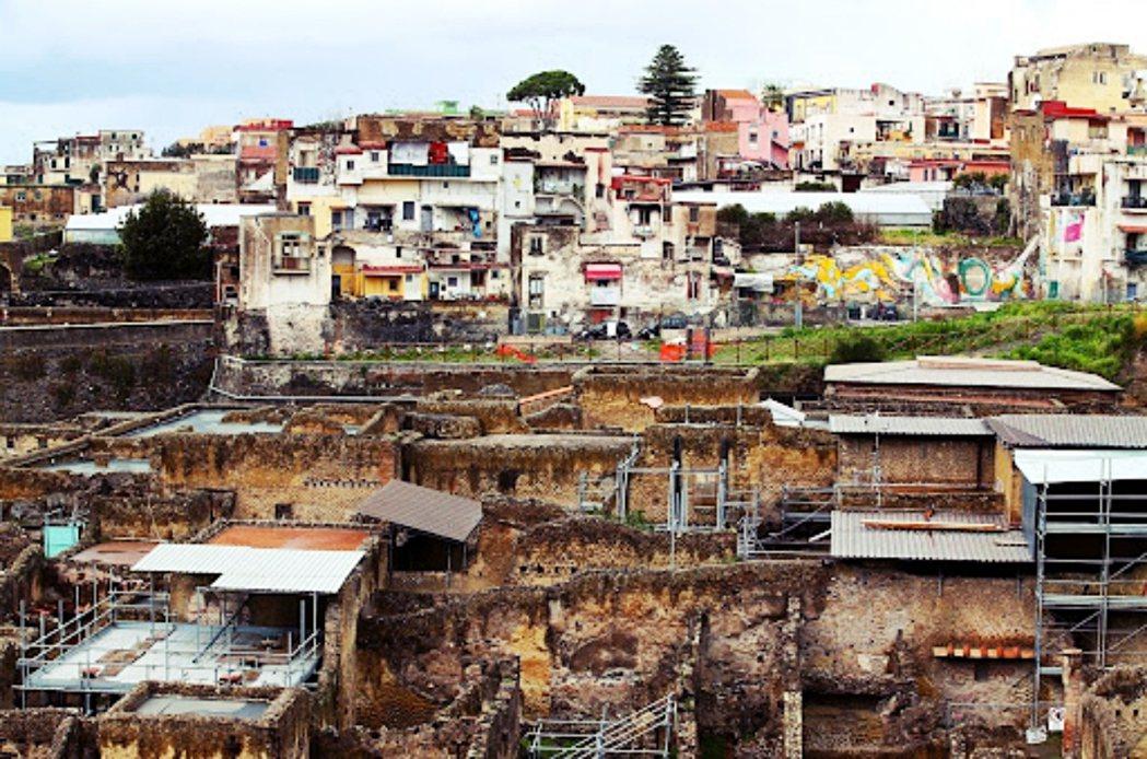 今日的赫庫蘭尼姆(Herculaneum)城鎮遺跡。 圖/路透社