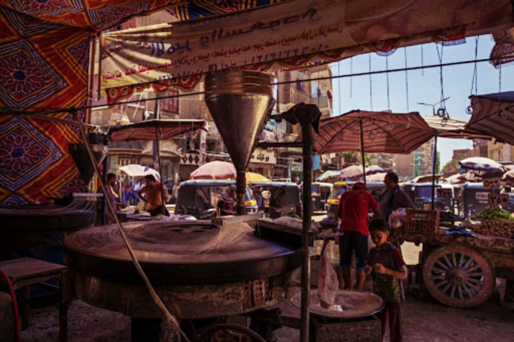 埃及一處市集。 圖/美聯社