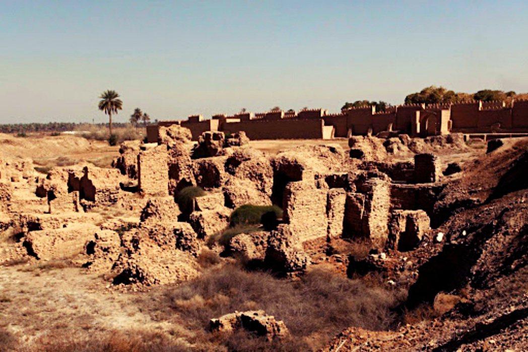 位於伊拉克,拍攝於2015年的巴比倫古城殘跡。 圖/路透社