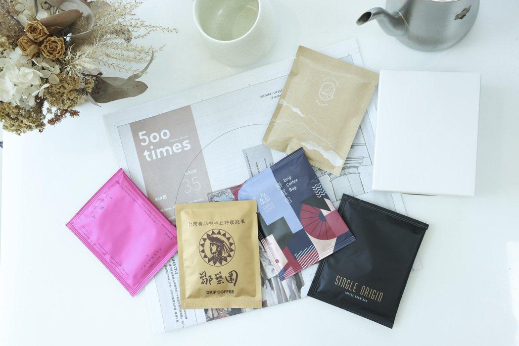 500咖推出的冠軍咖啡組合。圖/王聰賢攝影