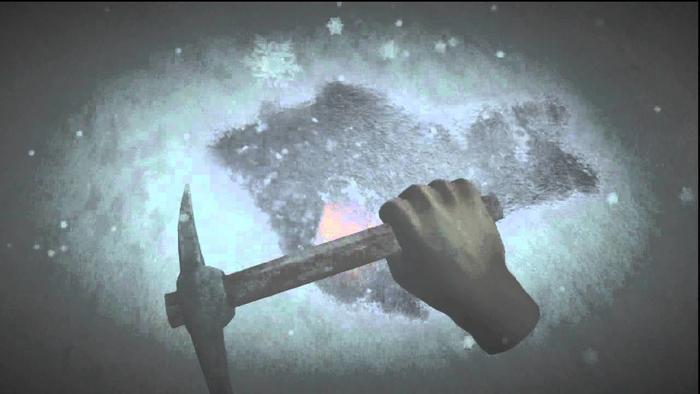 Sony旗下遊戲《Datura》裡,當你在這裡鑿開冰面,真的可以找到一個實體獎盃...