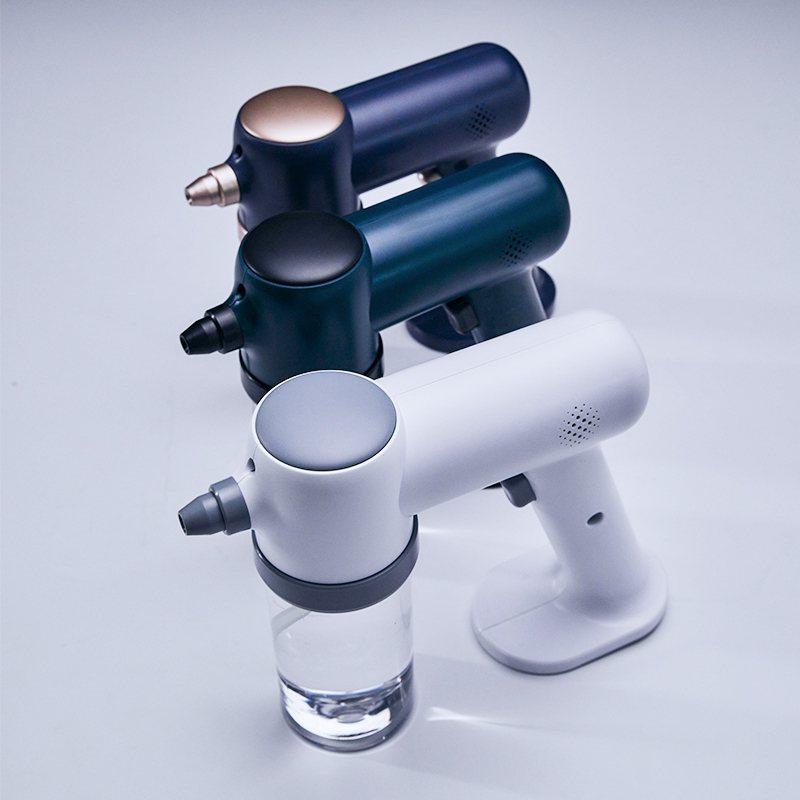 此次MIWORKS所推出的奈米級霧化消毒噴霧槍,產品自製開模,一體成形設計,並採...
