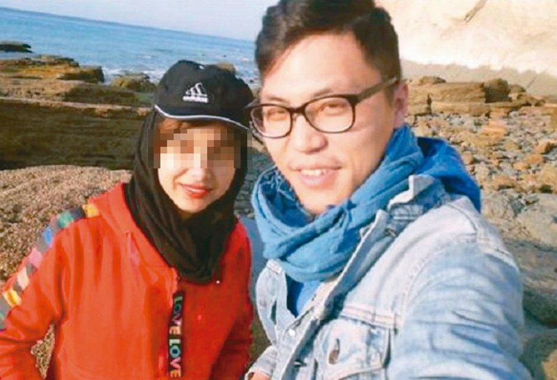 中國男網紅(右)調戲伊朗妹,遭伊朗法院判鞭刑坐牢。(取材自微博)