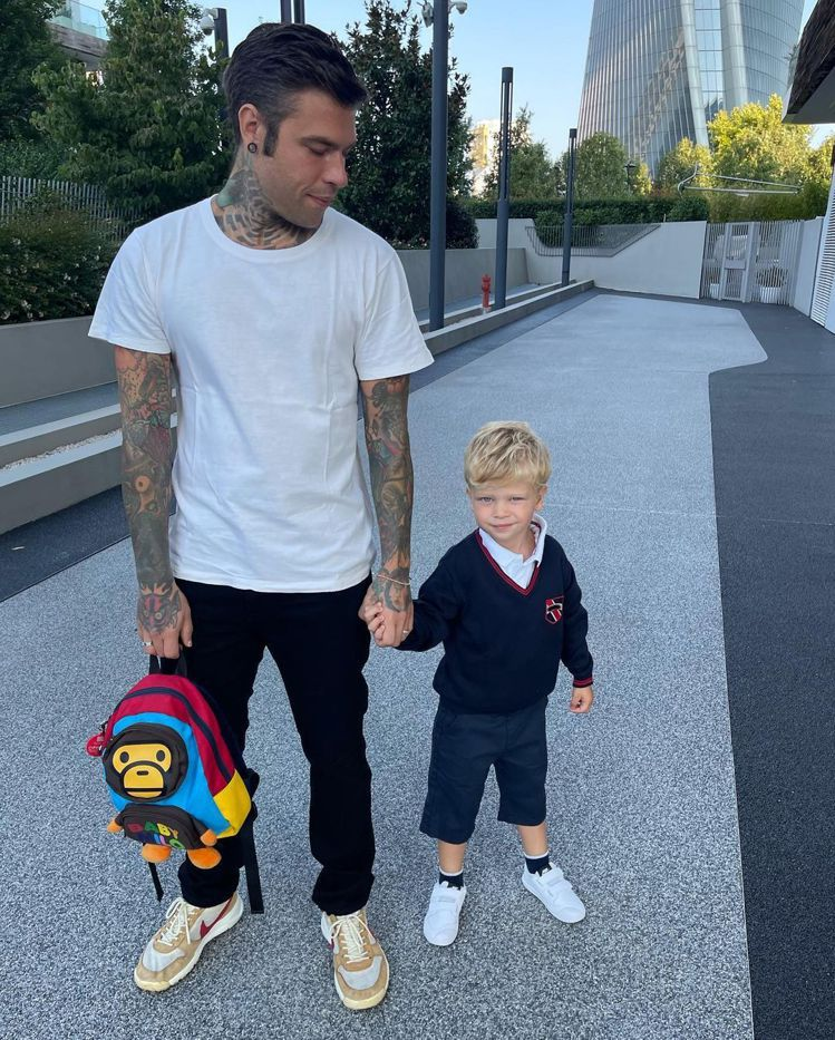 Chiara Ferragni兒子Leo上學去。圖/摘自IG