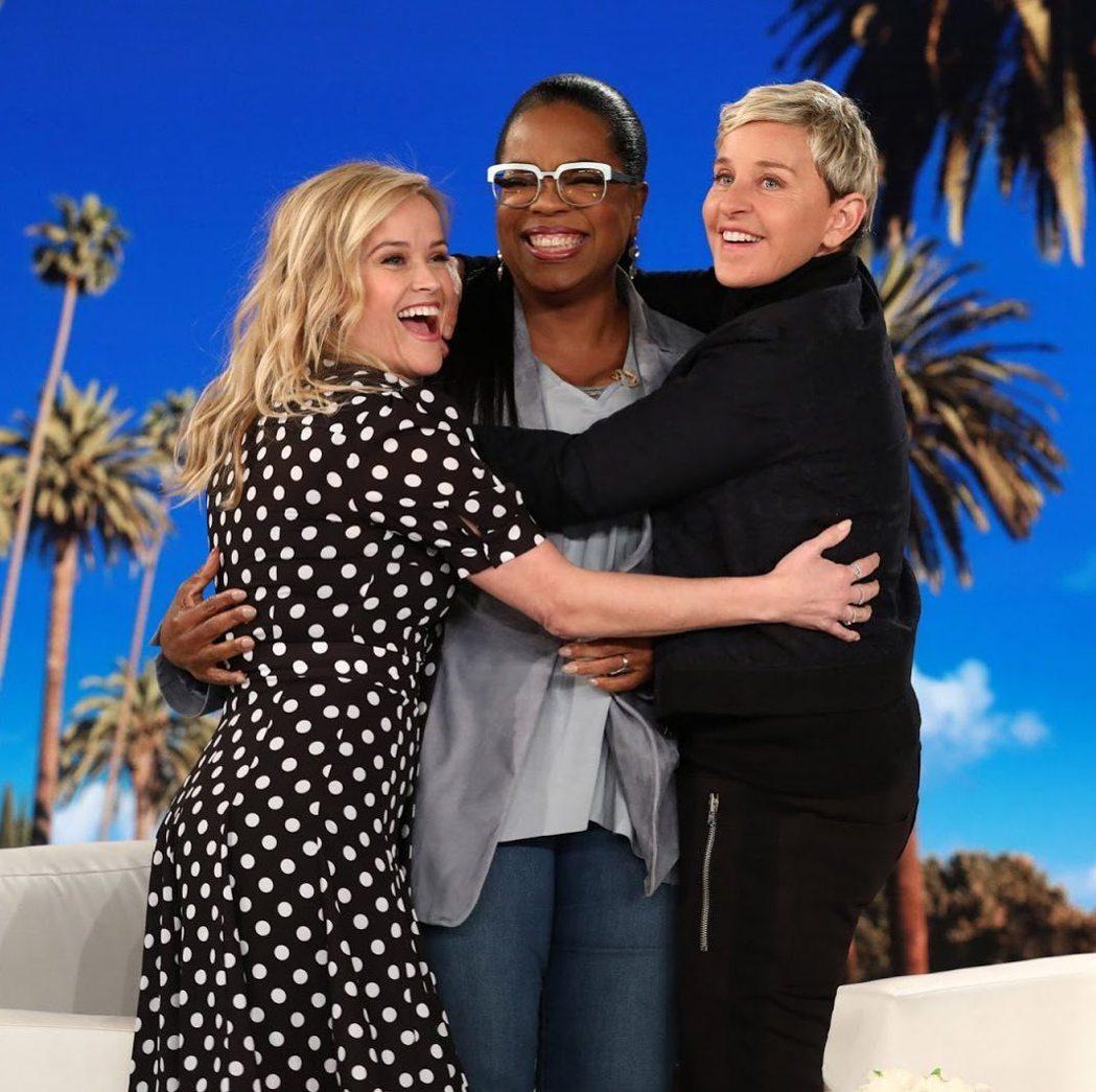 艾倫狄珍妮絲(右起)以往行情超夯時,節目上請得動歐普拉與瑞絲薇絲朋。圖/摘自IG