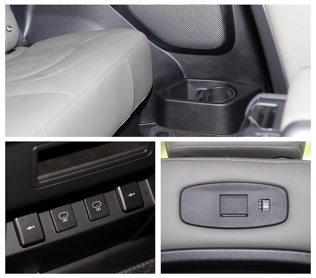 Land Rover Defender 90後座不僅乘坐舒適,像是冷氣出風口、置...